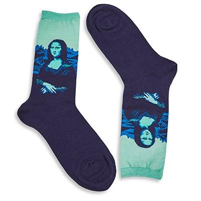 Lds Mona Lisa Pop mint print sock