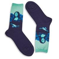 Women's Mona Lisa Pop Sock - Mint Printed