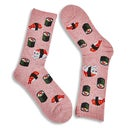Hot Sox Women's SUSHI CAT SPORT pink printed socks