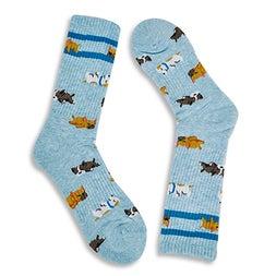 Lds Sleeping Dogs Sport mint print sock