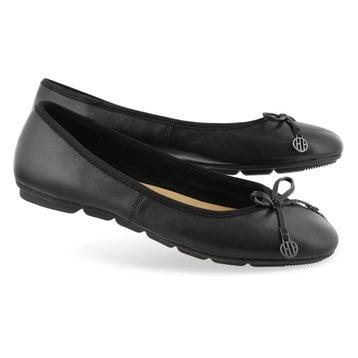 Women's ABBY BOW BALLET black casual flat