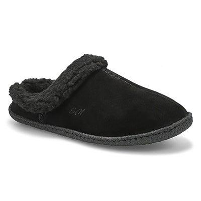 Lds Jupiter bk/bk open back slipper