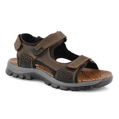 Men's KASPER  tan 3 strap sport sandals
