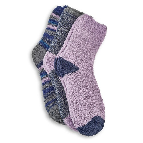 Lds Shadow crew multi coloured sock- 3pk