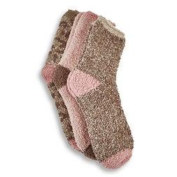 Lds Sand Marl multi coloured sock- 3pk