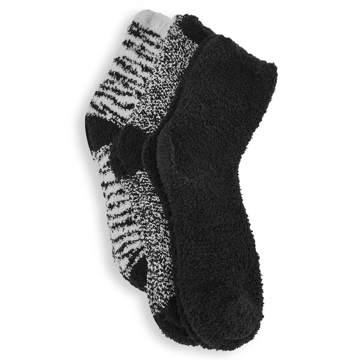 Women's Zebra Crew Socks - Multi Coloured 3pk