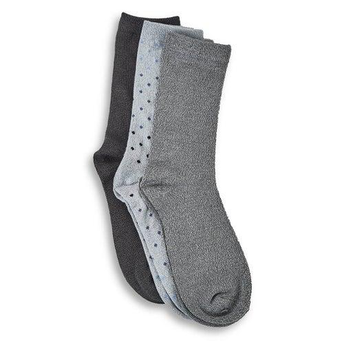 Lds Ombre crew multi coloured sock- 3pk