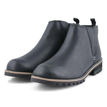 Women's PEYTO black waterproof chelsea boots
