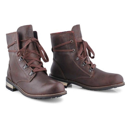 Lds Canora Plaid cocoa wtp laceup boot
