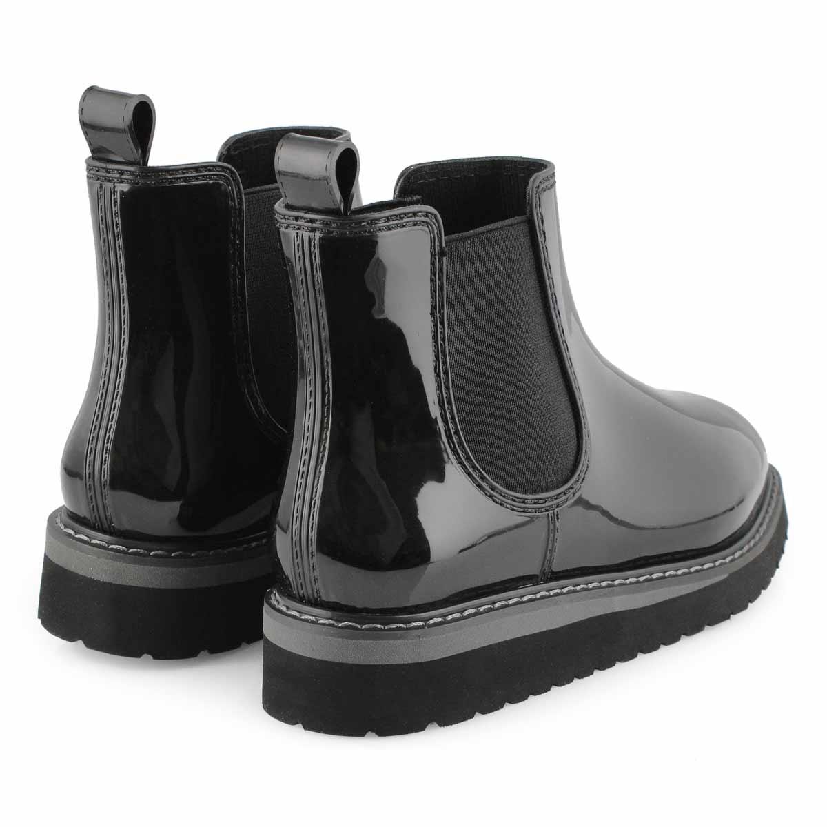 Women's KENSINGTON bk/cha waterproof chelsea boots