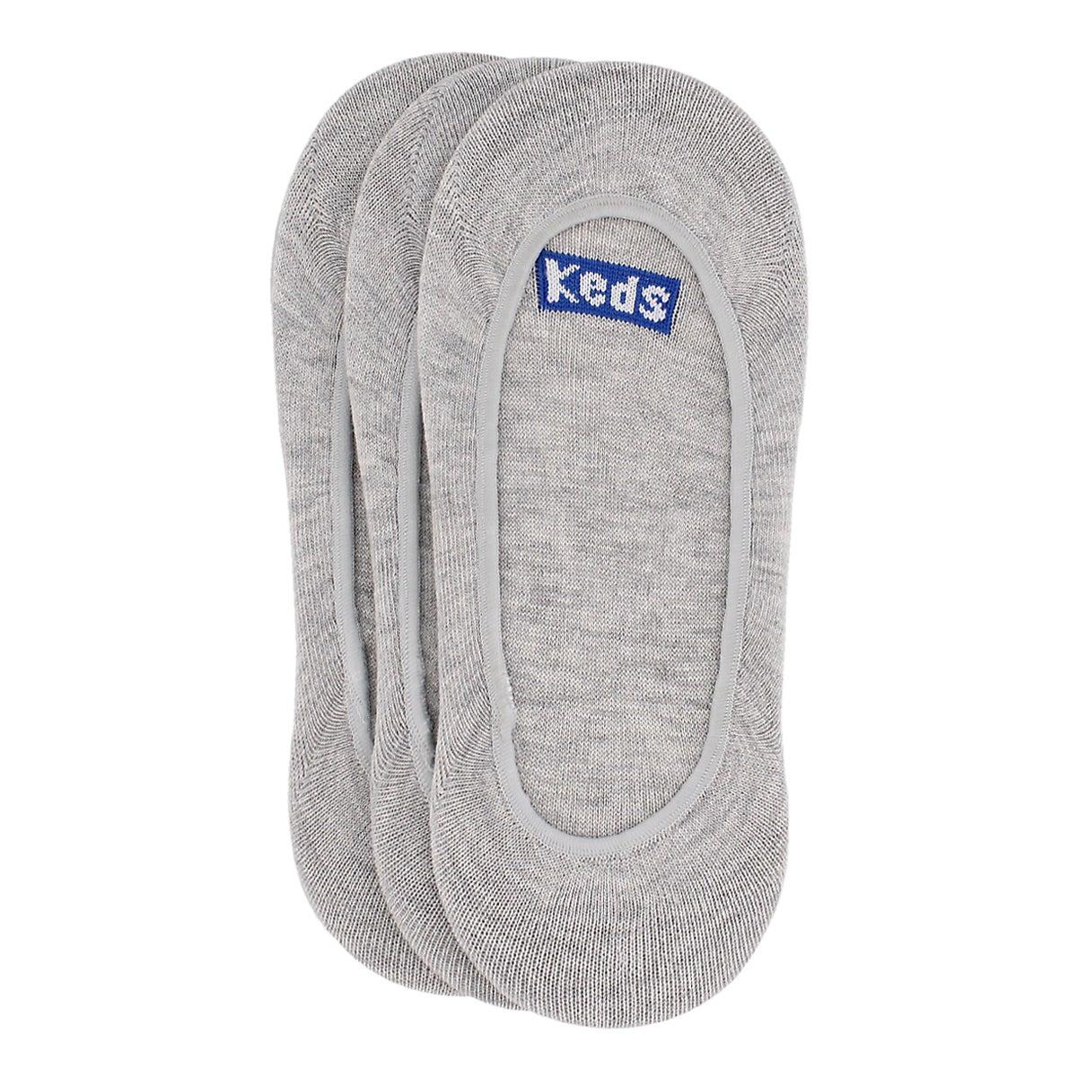 Women's SEASONLESS CORE grey liners - 3pk