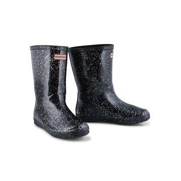 Infants' First Classic Glitter Rain Boot - Black