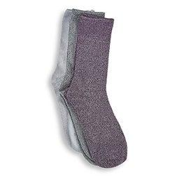 Lds marled crew multi coloured sock- 3pk