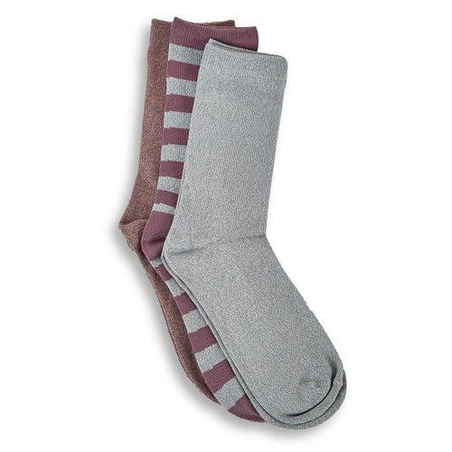 Lds Marl Rugby crew multi sock- 3pk