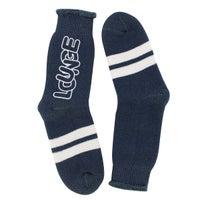Women's Lounge Crew Sock - Blue