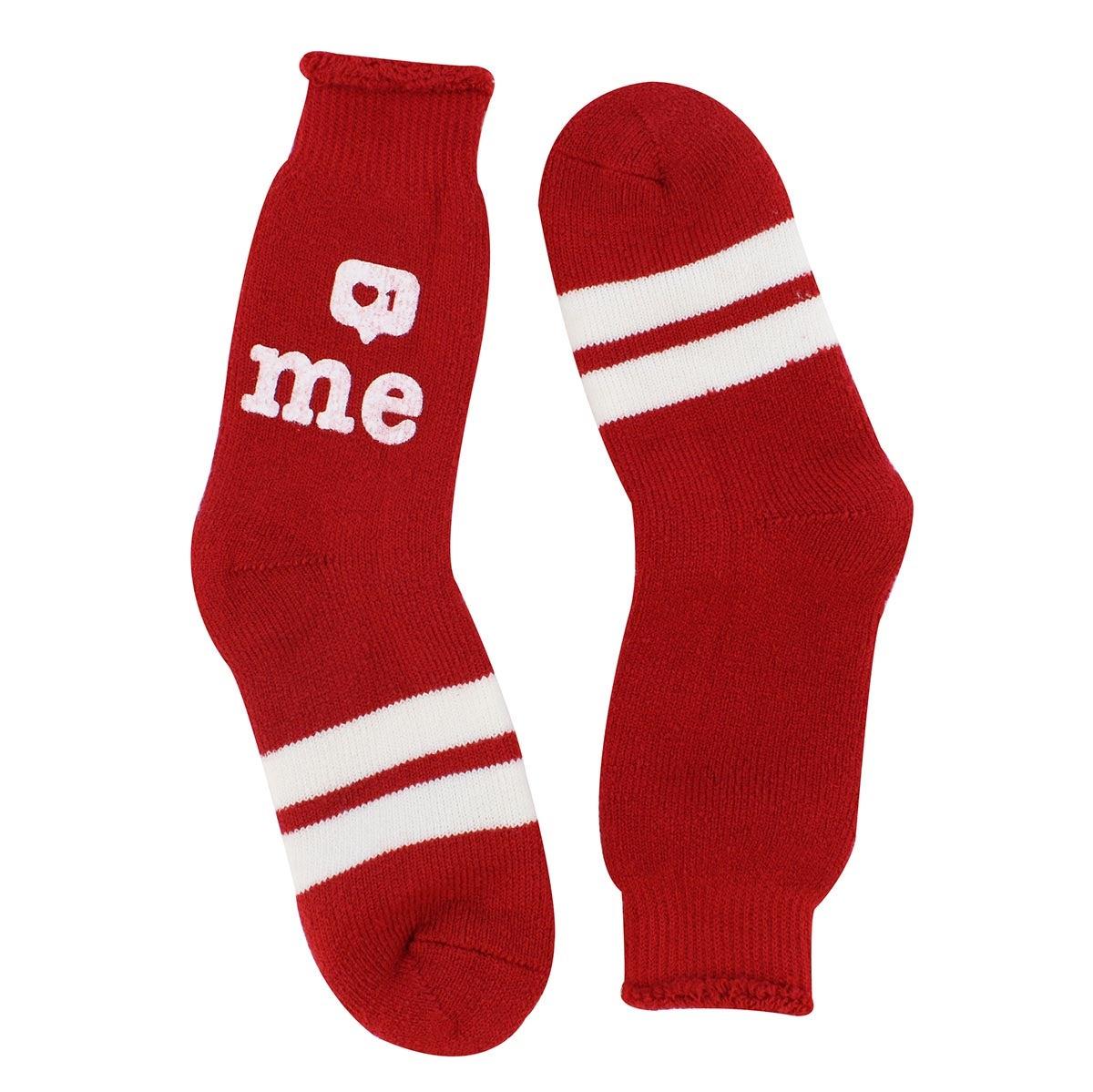 Women's Like Me red crew socks