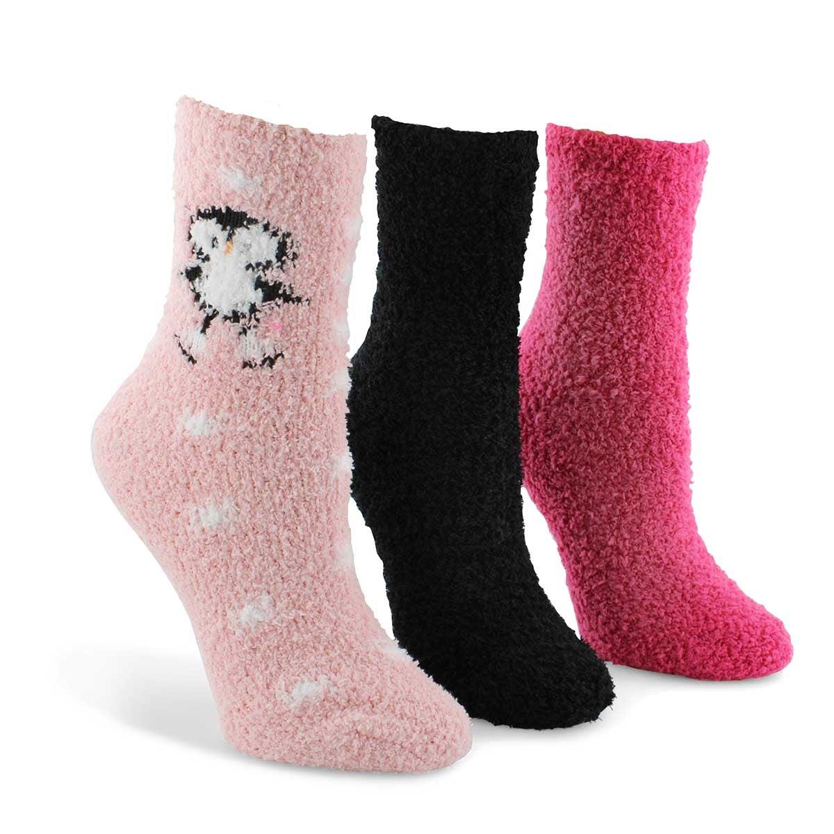 Women's Skating Penguin Socks - Multi Thick  3pk