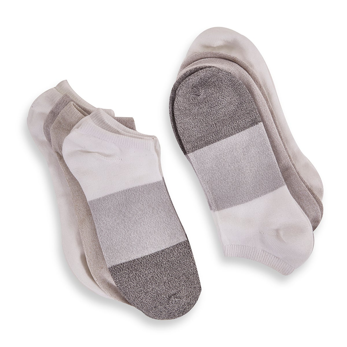 Women's Soft & Dreamy No Show Sock - Grey Multi