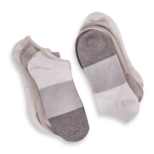 Lds Soft&Dreamy gry mlt no show sock-3pk