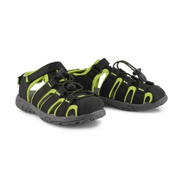Sandales pêcheur KYLE, noir/lime, garçons