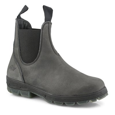Women's KYLIE black crazy horse chelsea boots