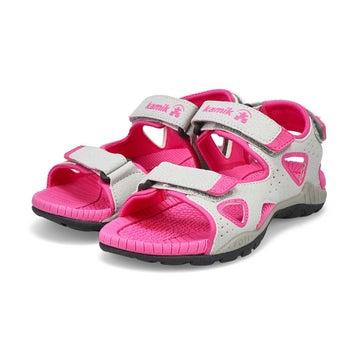 Girls' Lobster 2 Sport Sandal - Grey/Pink