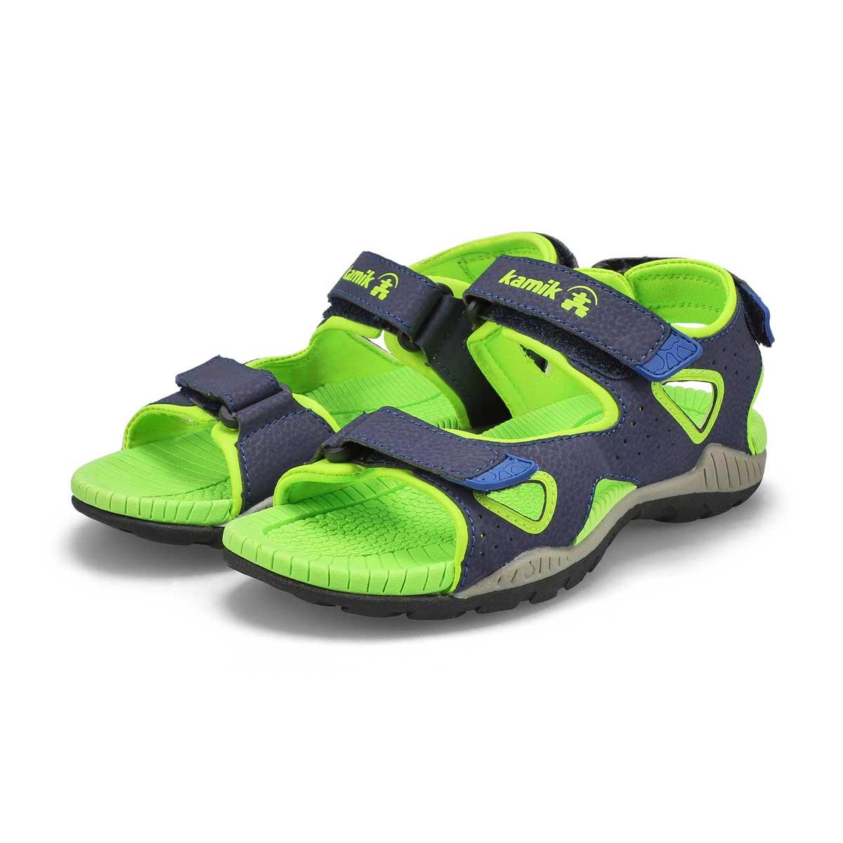 Boys' Lobster 2 Sport Sandal - Navy/Lime