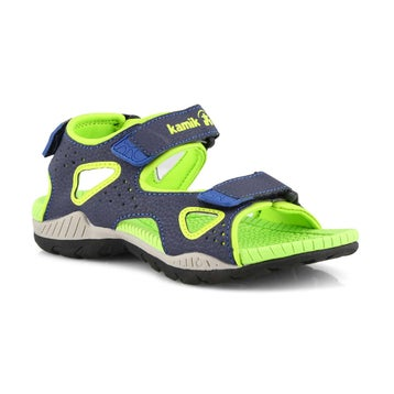 Sandales sport LOBSTER 2 bleu marine/lime, garçons