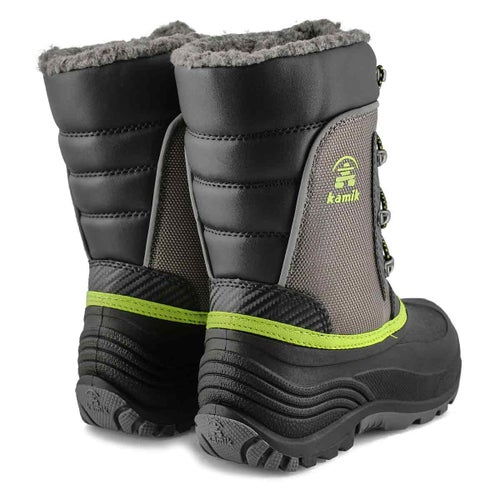 Bys Luke charcoal lime wtpf winter boot