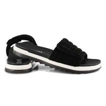 Women's LUPIN black slide sandals