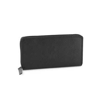 Women's LW-1003 black leather  around wallet