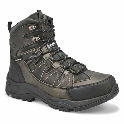 Men's MILES grey waterproof lace up winter boots