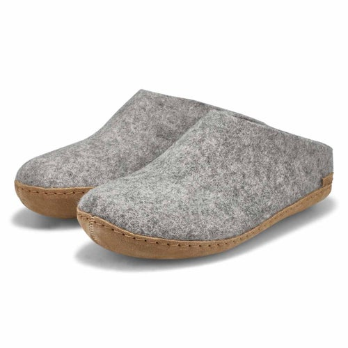 Lds Model A grey closed back slippers