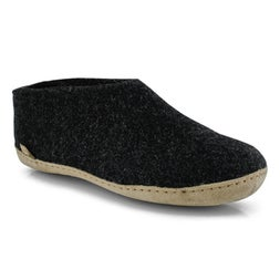 Mns Model A chrcoal closed back slippers