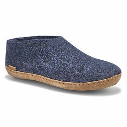 Mns Model A denim closed back slippers
