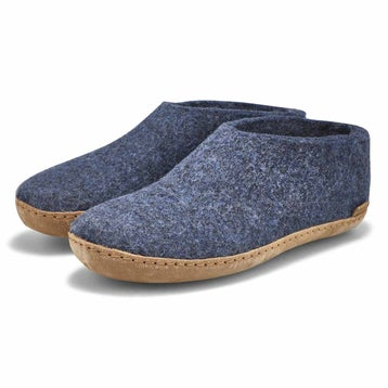 Men's MODEL A denim closed back slippers
