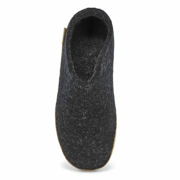 Women's MODEL B black open back slippers