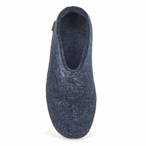 Lds Model B denim open back slippers