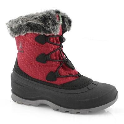 Women's MOMENTUM LO red waterproof winter boots