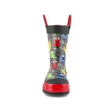 Boys' MONSTERS black rain boots