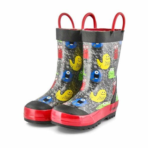Bys Monsters black rain boot