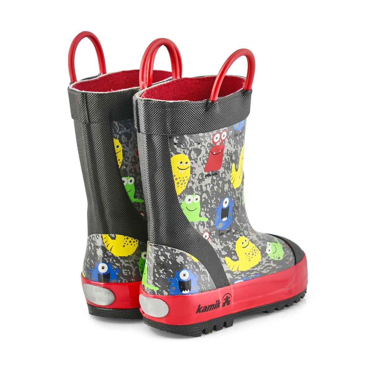 Boys' Monsters Rain Boot - Black