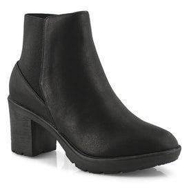 Lds Montroyal black vegan ankle boot