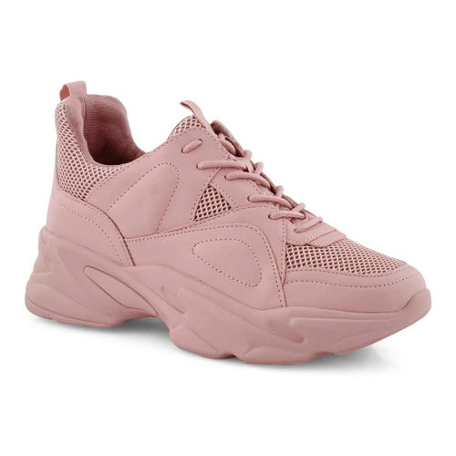 Lds Movement pink lace up sneaker