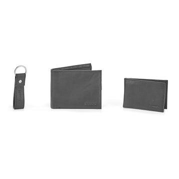 Portefeuille MW-3PC-BLK cuir véritable,noir,hommes