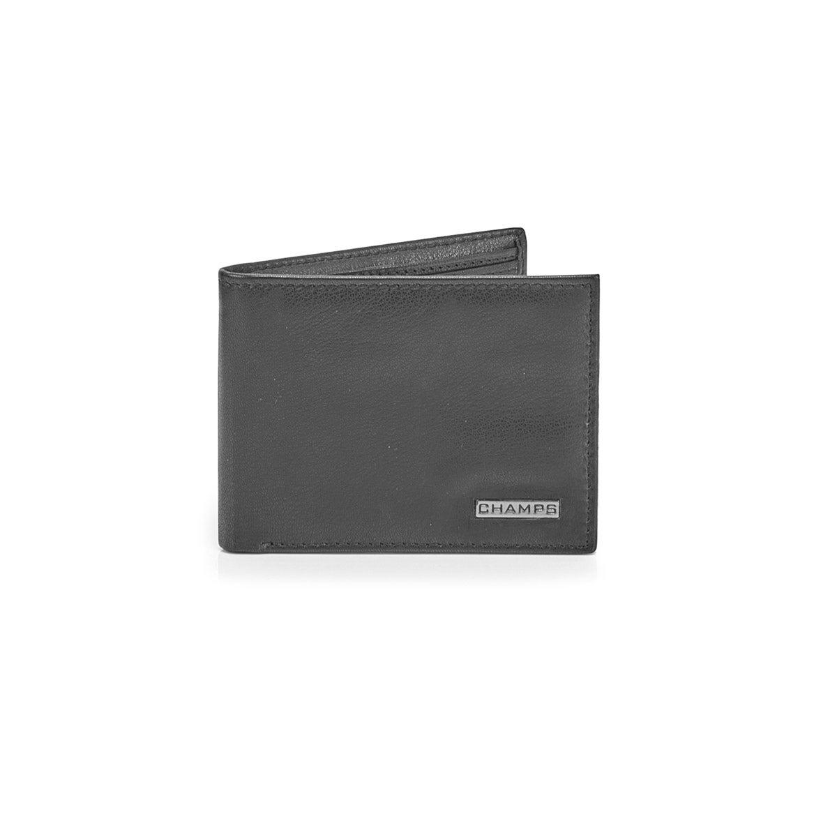 Portefeuille MW-801 cuir véritable,noir,hommes