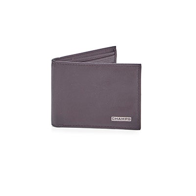 Mns brown cowhide leather wallet
