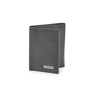 Mns black cowhide leather wallet