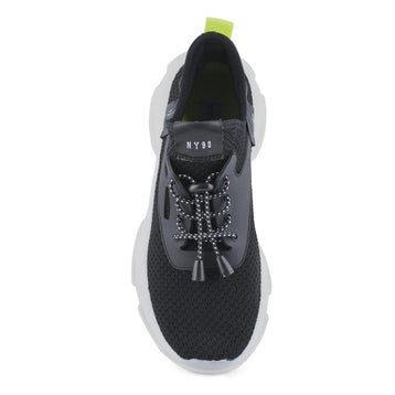 Women's MYLES black lace up fashion sneakers