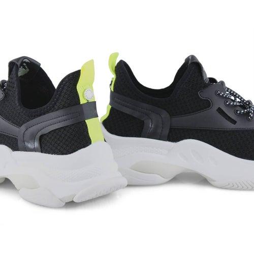 Lds Myles black lace up fashion sneaker